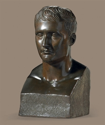 A BRONZE BUST OF NAPOLEON