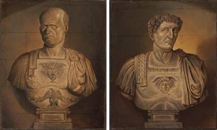 Bust of Vespasian; and Bust of
