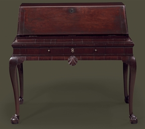 AN IRISH GEORGE II MAHOGANY BU