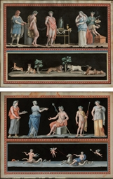 Pompeiian wall decorations