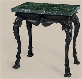 A QUEEN ANNE EBONIZED OAK AND