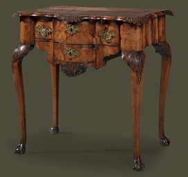 A DUTCH WALNUT LOWBOY