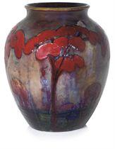 WILLIAM MOORCROFT (1872-1945) FLAMBÉ 'HAZELDENE' VASE, CIRCA