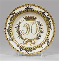 A porcelain soup plate from the Orlov Service