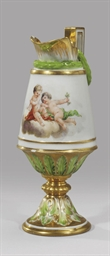 A porcelain vase in the form o