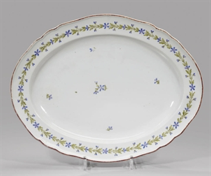 A porcelain dish with corn-flo