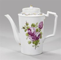 A porcelain covered coffee-pot