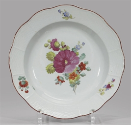 Two porcelain plates