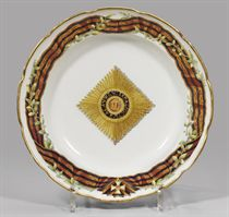 A porcelain soup plate from the Service of the Order of St G