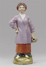 A porcelain figure of an Inger