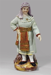 A porcelain figure of a Finnis
