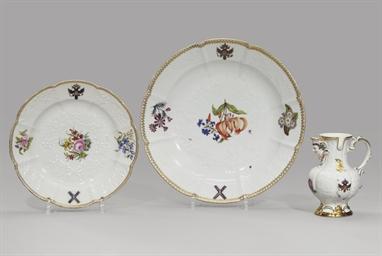 A large porcelain platter, a p