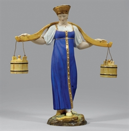 A PORCELAIN FIGURE OF VODONOSK