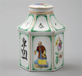 A PORCELAIN TEA-CADDY