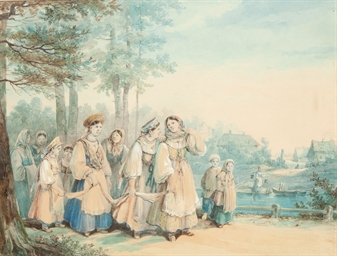 A procession of young maids