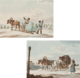 Ice carriers; and Peasants in