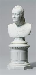 A PORCELAIN BUST OF EMPEROR AL