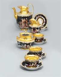 A PORCELAIN TEA-SET