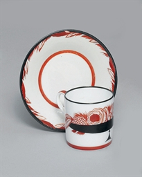 A SOVIET PORCELAIN CUP AND SAU