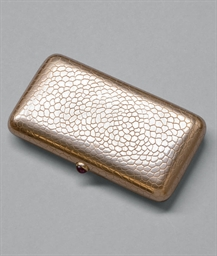 A jewelled gold cigarette case