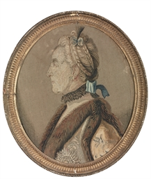 A tapestry panel portrait of C