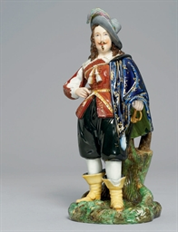 A LARGE PORCELAIN FIGURE OF A