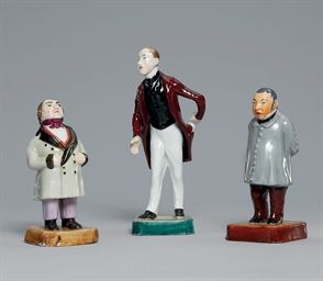 THREE PORCELAIN FIGURES OF LIT