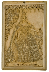 An ivory plaque depicting Empr