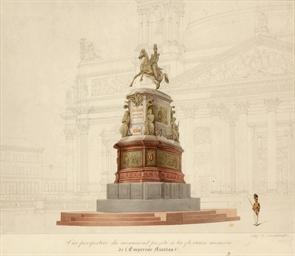 Vue perspective du monument pr