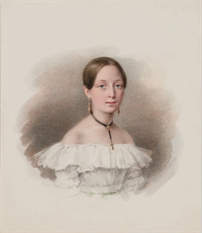 Portrait of a girl in a white