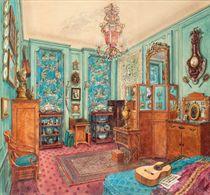 An interior of Alexandre Popoff's apartment in Paris