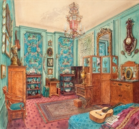 An interior of Alexandre Popof