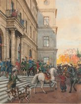 Count Orlov moving off at Gatchina