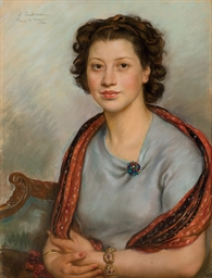 Portrait of Bertha Popoff in a