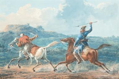 Afshar - a Persian horseman pu