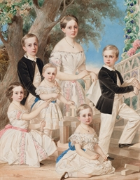 Portrait of the children of th