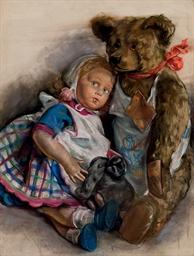 The Popoffs' doll, teddy bear