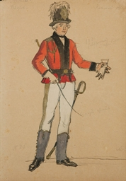 A costume design for La Dame d