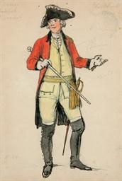 A costume design for La Dame d