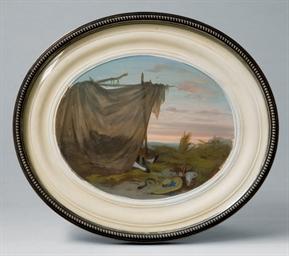 A silver photograph frame