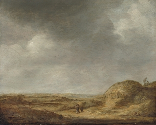 A dune landscape with figures
