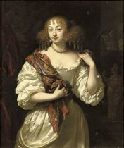 Portrait of a lady, said to be Barbara Villiers, Duchess of Cleveland, three-quarter-length, in a silver dress