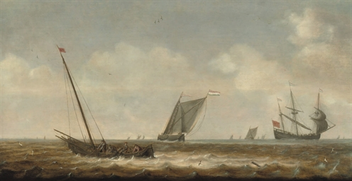 Fishermen in a 'smalschip' dra
