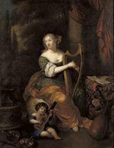 Portrait of Madame de Montespan with her infant son the Duc de Maine