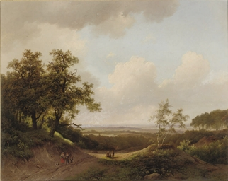 An extensive summer landscape