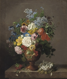 A colourful bouquet of various