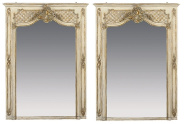 A PAIR OF PARCEL GILT DECORATE