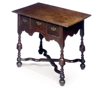 A WILLIAM AND MARY OAK LOWBOY