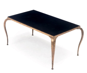 A FRENCH GILT-METAL LOW TABLE