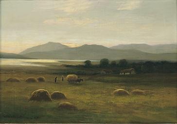 Hay time, Loch Linnhe